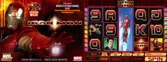 iron Man Slot Screenshots