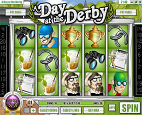 A Day At The Derby Slot Screenshot of Main Screen