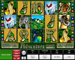 Adventure Palace Slot Screenshot of Main Screen