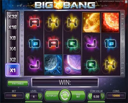 Big Bang Main Screen