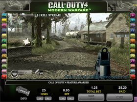 Screenshot of Call Of Duty 4 Bonus Game Screen