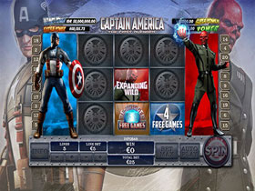 Captain America Bonus Trigger Page Screenshot