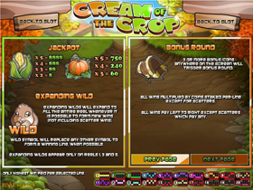 Cream Of The Crop Bonus Game Screenshot
