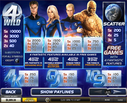 Fantastic Four Payscreen