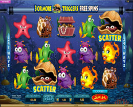 Fish Party Main Page Screenshot