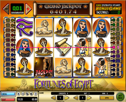 Fortunes of Egypt Slot Main Screen