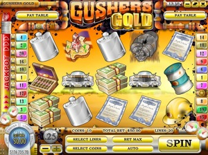 Gushers Gold Main Screen