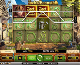 Jack And The Beanstalk Main Screen