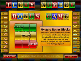 Lucky Number Slot Paytable Screen