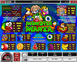 Monster Mania Payscreen