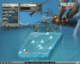 Pacific Attack Battleship Bonus Game Screenshot
