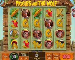 Piggies And The Wolf Slot Screenshot