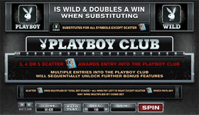 Playboy Online Slot Pay Table Screenshot