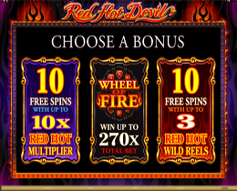 Red Hot Devil Bonus Screen