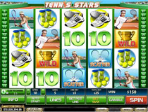 Tennis Stars Slot Screenshot