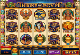 Throne of Egypt Main Screen