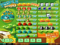 Triple Profits Slot Payscreen
