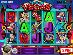 Vintage Vegas Main Page Screenshot