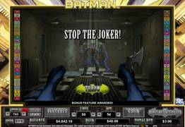 Batman Slot Bonus Screen