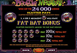 Boogie Monsters Slot Paytable