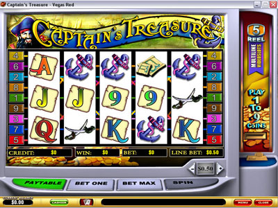 Captains Treasure Slot Screenshot