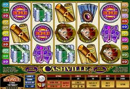 Cashville Slot Main Screen