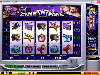 Cinerama Slot Screenshot - Playtech Slot