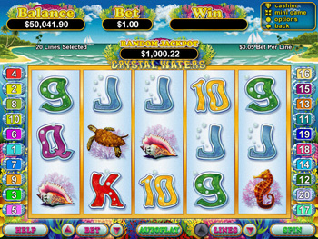 Crystal Waters Slot Main Screen