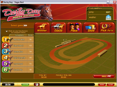 Derby Day Arcade Game Screenshot