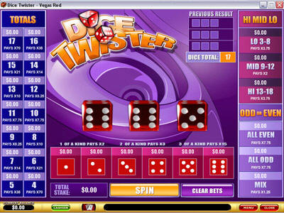 Dice Twister Arcade Game Screenshot