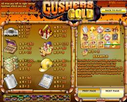 Gushers Gold Payscreen