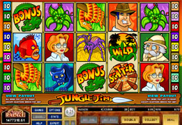 Jungle Jim Slot main Screen