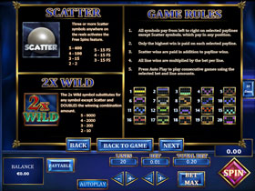 Lost Gems Of Brussels Slot Payout Screen