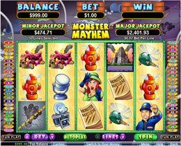 Monster Mayhem Slot Main Screenshot