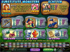Monster Mayhem Payout Screenshot