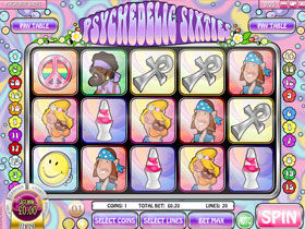 Psychedelic Sixties Main Page Screenshot