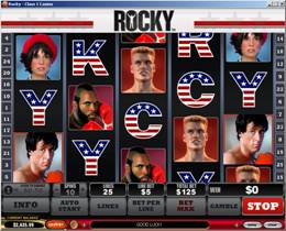 Screenshot of Rocky Slot