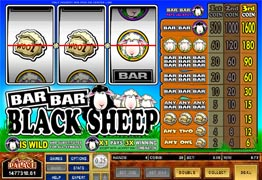 Bar Bar Blacksheep Slot Screenshot of main screen