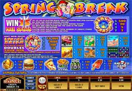 Spring Break Slot Payscreen