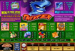 Twister Slot Payscreen